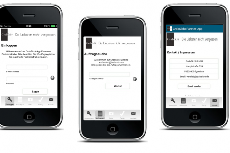 Grabsicht Partner-App